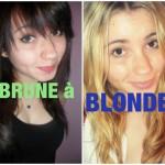 Passer de brune à blonde